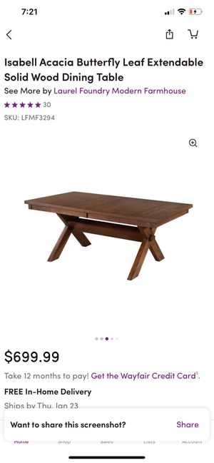 Isabell Solid Wood Dining Table (NEW) for Sale in Lawrenceville, GA