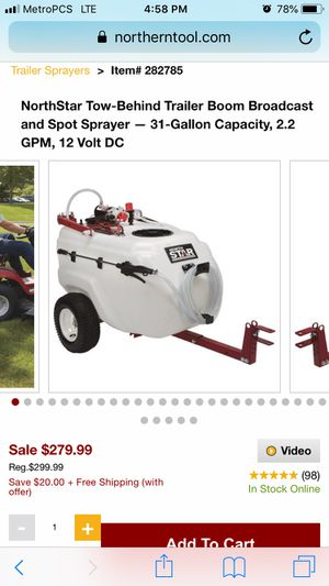 Tow behind sprayer for Sale in Manassas, VA