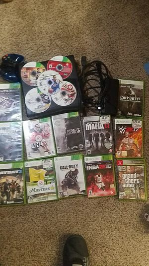 Xbox 360 slim with HDMI controller and all the cords + 17 games for Sale in Lancaster, OH