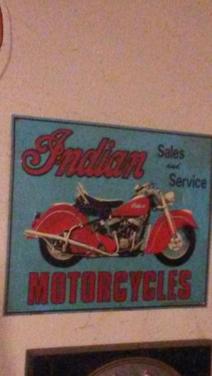 Indian motorcycles sighn for Sale in San Bernardino, CA