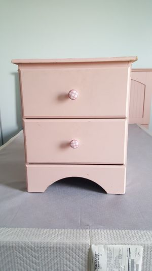 Pink Nightstand - see also Pink Dresser with Mirror and see Pink Full/Queen Bedroom Set for Sale in St. Louis, MO