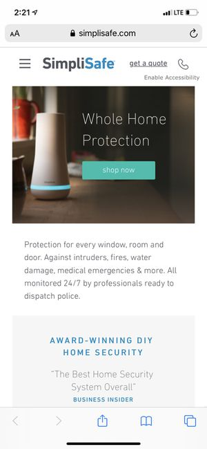 SimpliSafe Home Security System (used) for Sale in South Elgin, IL