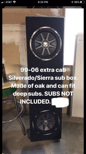 Silverado subwoofer box and amps for Sale in Bakersfield, CA