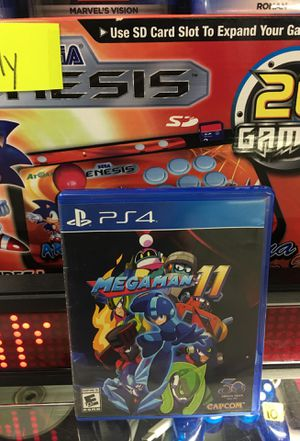 PlayStation 4 megaman 11 used Perfect condition pick up in panorama city for Sale in Los Angeles, CA