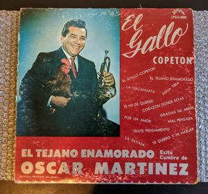Oscar Martinez: El Tejano Enamorado (LP) Rare Sombrero VG Tex-Mex, Mariachi for Sale in Huntington Beach, CA