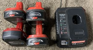 *** Craftsman c3 19.2v lithium ion batteries with charger *** for Sale in Union City, CA
