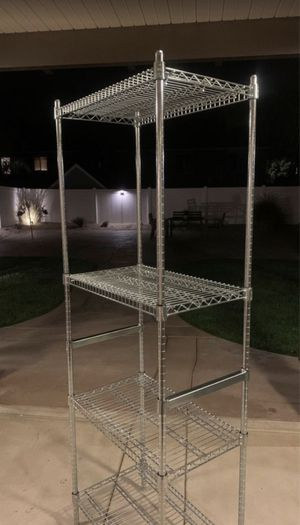 """18"""" x 36"""" Chrome Wire Shelving w/ 4 Shelves (Brand new IN BOX) for Sale in Perris, CA"""