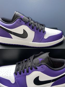 Air Jordan 1 Low Court Purple White Size 10.5 for Sale in Dunlap,  IL