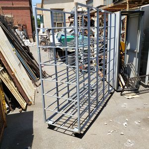 Metal carrying shelf shelves with wheels for Sale in South Gate, CA