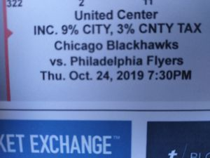 """***2 Chicago Blackhawks Tickets**"""" for Sale in South Holland, IL"""