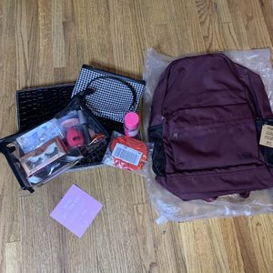 PINK VS BACKPACK + MAKE UP BUNDLE BAG for Sale in Fresno, CA
