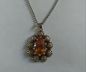 Vintage 6-Carat Citrine/925-Silver Necklace for Sale in Denver, CO