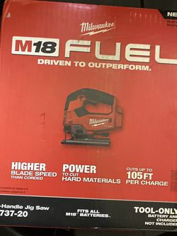 New Milwaukee Fuel M18 Jigsaw Saw , Tool Only for Sale in Aurora,  CO
