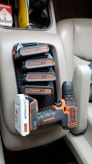 Black + Decker Battery Drill BDCDD120 WITH 5 BATTERIES (20volt lithium 2AH) for Sale in Greensboro, NC