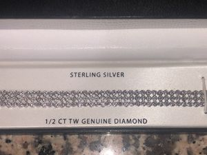 Diamond and Sterling Silver Tennis Bracelet for Sale in Miramar, FL