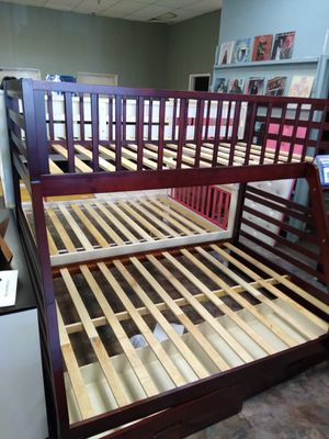 Twin size over Full size bunk bed frame with Drawers for Sale in Glendale, AZ
