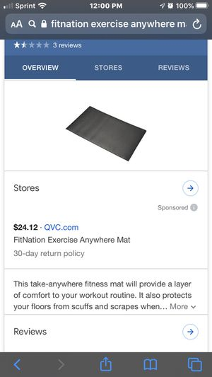 Workout mat 72/24 for Sale in Glendale, AZ