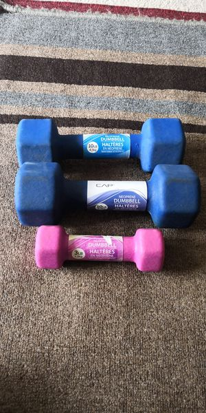 Dumbbell 10LB (pair)- Reduced price for Sale in Quincy, MA