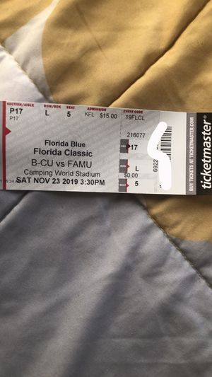 Florida Classic Football Ticket 11/23/2019 for Sale in Winter Haven, FL