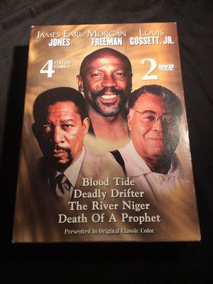 4 Feature Films Blood Tide Deadly Drifter The River Niger Death of a Prophet James Earl Jones Morgan Freeman Louis Gossett Jr. - DVD SET for Sale in La Habra, CA