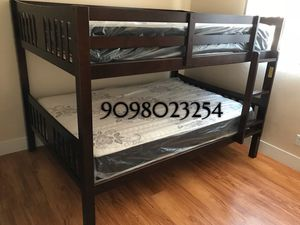 FULL/FULL BUNK BEDS W ORTHOPEDIC MATTRESS INCLUDED for Sale in Chino, CA
