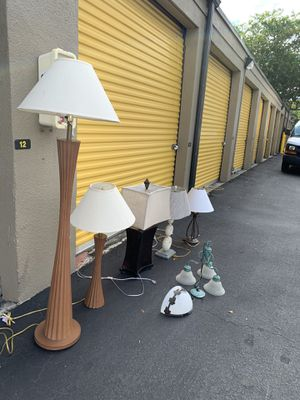 Lots and lots of lamps for Sale in Delray Beach, FL