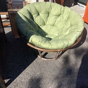 Mint Bamboo Papasan / Nest Chair for Sale in Scotts Valley, CA