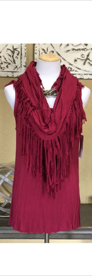 NWT Boho Fringe Scarf and Tank 2 Piece Set for Sale in Pearland, TX