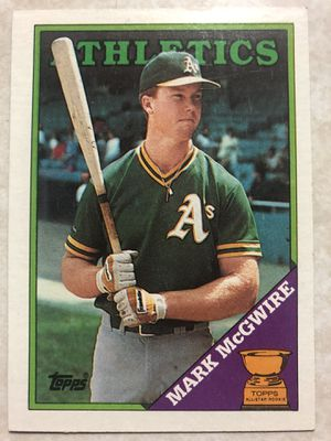 1988 Topps Mark McGwire #580 Baseball Card Athletics A's for Sale in San Jose, CA