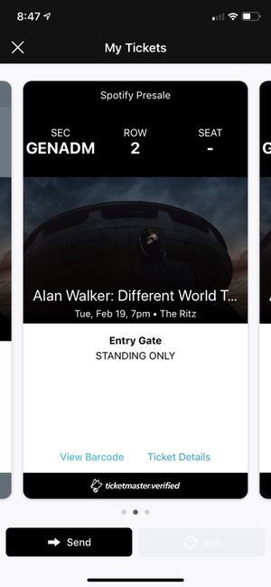Alan walker concert ticket for Sale in Cary, NC