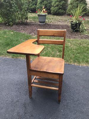 Antique Wooden School Desk for Sale in Schaumburg, IL
