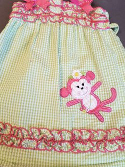 Rare Editions Gingham Monkey 3T Dress for Sale in Longwood,  FL