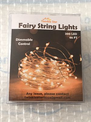 Twinkle Star 200 LED 66ft Fairy String Lights USB & Adapter Powered, Dimmable Control Starry Silver Wire String Lights Home Lighting Indoor Outdoor B for Sale in Powell, OH
