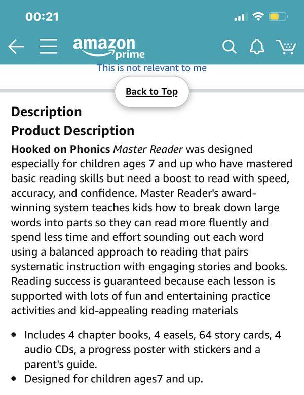 Hooked on phonics Master Reader