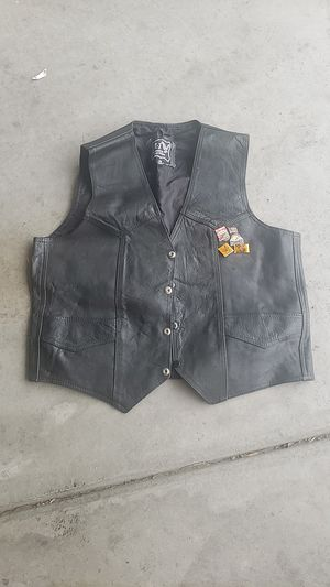 Leather motorcycle vest - Mens size 48 for Sale in Las Vegas, NV
