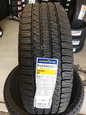 245/65/17 New set of Goodyear tires installed for Sale in Ontario, CA