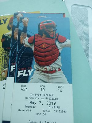 4 cards tix for cards vs phillies for Sale in St. Louis, MO