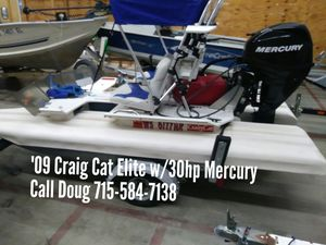 2009 Craig Cat Elite w/ 30hp Mercury for Sale in Shawano, WI