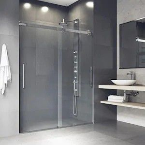 VIGO Caspian 59-in to 61-in W Frameless Bypass/Sliding Chrome Shower Door for Sale in Fairfax, VA