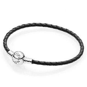 New Genuine Leather Braided Pandora Charm Bracelet for Sale in North Miami Beach, FL