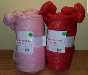 Pom Pom Throw Blankets NEW for Sale in Boca Raton, FL