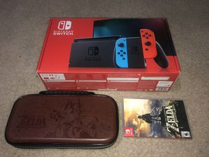 Nintendo Switch V2 + The Legend of Zelda BOTW + Bonus for Sale in Inglewood, CA