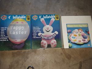 Easter inflatables and plate for Sale in North Richland Hills, TX