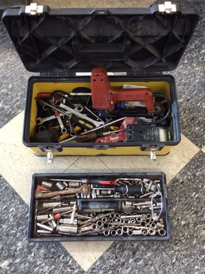 Mechanics Hand tools sockets wrenches in Stanley box for Sale in Columbus, OH