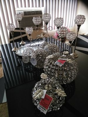 Mirrored Tray, Candle Holder, candelabra, Decorative Balls, Decorative Pumpkins for Sale in Euclid, OH