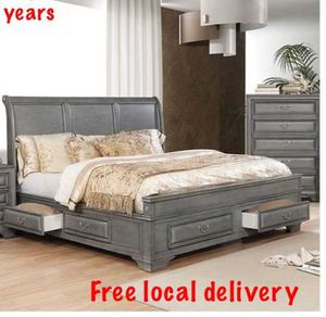 Queen bed frame. Dresser. Mirror. One night stand. Check description 8E 42 for Sale in Pomona, CA