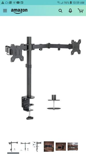"""VIVO Dual LCD Monitor Desk Mount Stand Heavy Duty Fully Adjustable fits 2 /Two Screens up to 27"""" (STAND-V002) for Sale in Glendale, AZ"""