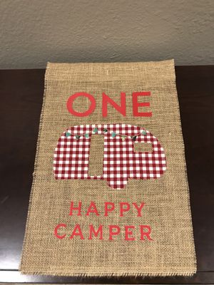One happy camper yard flag for Sale in Corona, CA