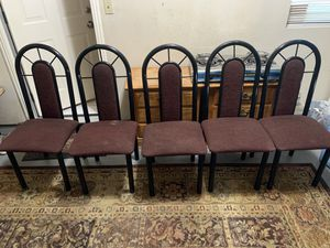 5 chairs $50 for Sale in Modesto, CA