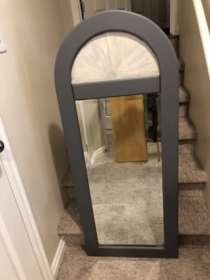 Awesome Gray Farmhouse Solid Wood Mirror! for Sale in Draper, UT